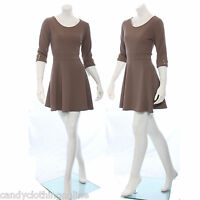 Ladies Peplum Dress Long Fitted Skater Aline Top Summer Casual Midi Size 8 10 12