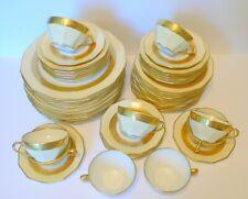 Art Deco French Limoges Porcelain Gold Dinner Set 48 Pc.