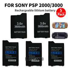 5x 3600mAh Battery Replacement For PSP 2000 Series PSP 2001 PSP 2002 PSP 2003 US