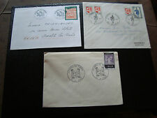 FRANCE - 3 enveloppes 1er jour 1968/1976/1998 (journee du timbre) (cy53) french