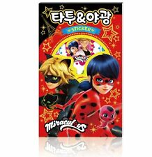 Miraculous Ladybug Tattoo luminescent Sticker Glitter Book DIY Toy Kids Gift Fun