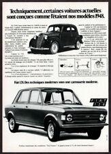 1973 FIAT 128 Vintage Original Print AD - 1948 1100B black car photo France