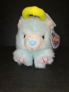 New PUFFKINS by Swibco Angelica Angel Bear Plush BEANIE Collectible Rare