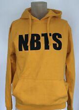 Yellow Hoodie Mens Size Medium Pullover Sweatshirt Casual Novelty Love Festival