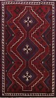 Excellent Vintage Geometric Abadeh Area Rug Tribal Oriental Hand-knotted 7'x10'