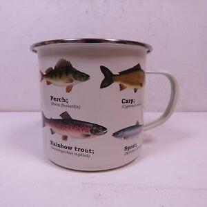PISCIS ENAMEL FISHING CAMPING COFFEE MUG