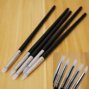 5 Pcs Silicone Clay Sculpting Sculpting Tools Cake Fondant Decor Molding Pens