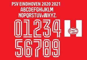 PSV Eindhoven 2020-2021 Home Football Nameset for shirt Any Name & Number