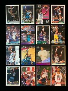 Alonzo Mourning Charlotte Hornets 16 card lot HOF NO DUPLICATES