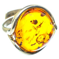 Baltic Amber 925 Sterling Silver Ring Size Adjustable 6 Ana Co Jewelry R58393F