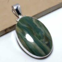 "Safari Jasper Handmade Ethnic Style Jewelry Pendant 2.36"" VJ-7900"