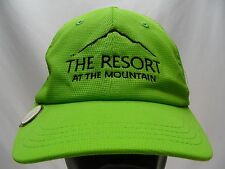 THE RESORT AT THE MOUNTAIN - BRIGHT GREEN - ADJUSTABLE BALL CAP HAT!