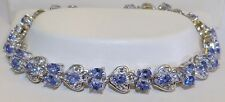 GENUINE! RARE 7.18cts Tanzanite & Topaz Gemstone Bracelet in Solid Silver 925!