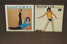 DANSEXERCICE AVEC CLAIRE PIMPARE Vol. 1+2 LP LOT VINYL ALBUMS Pimparé EXERCICE