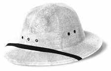 Double-Lacquered Straw Pith Helmet White