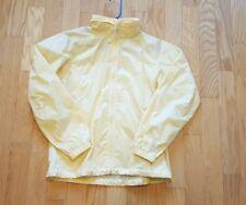 Columbia Jacket size Medium M windbreaker lightweight packable hoody Yellow