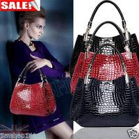 Women's Ladies Designer Celebrity Tote Bag Leather Style Large Shoulder Handbags