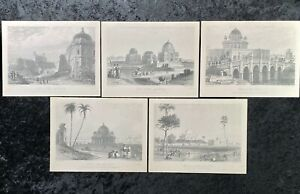 Dehli By Thomas & William Daniell 5 Prints Limited Edition Reproduction Vintage