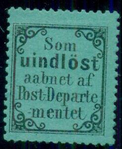 NORWAY 1872, Return - to - Sender Stamp (RM2), LH, Facit $110.00