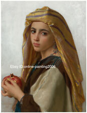 HD photo canvas print William Bouguereau famous paintings young girl 20x24in