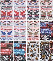 2 Free 1 Graphics Decals Logo Racing Stickers Sheet Emblem Motorcycle ATV Helmet