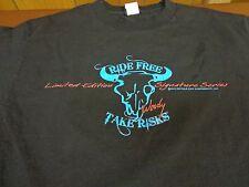 Buffalo Chip  Ride Free Take Risks Woody Signature Series 2013 Medium T-shirt V8