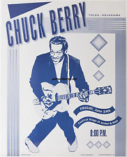 CHUCK BERRY concert poster Friday, June 14, 1991 in Tulsa, OK in Mint Condition