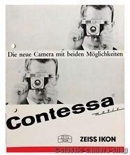 Zeiss Ikon prospetto contessa matic & Matic e contessa opuscolo accessori (x2179