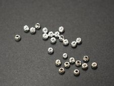 """25 Premium SILVER  3.3mm   1/8""""  Beads Bead Heads for Fly Tying"""