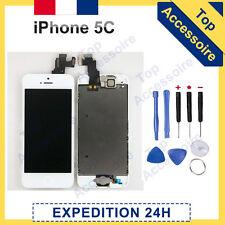 ECRAN IPHONE 5C BLANC COMPLET VITRE TACTILE + LCD RETINA SUR CHASSIS + OUTILS