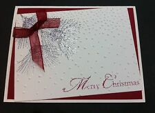 Handmade Stampin' Up Card Christmas Pine Cones Combined Shipping