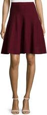 New Chelsea & Theodore Burgundy Merlot Skirt ~ Medium NWT Textured Stripe
