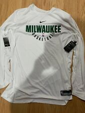 Nike Dry NBA Milwaukee Bucks Player Practice Long Sleeve Jersey XXL BNwT 877509