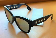 Kering Chic McQueen Black and Silver Core Sunglasses - Plastic Frame, Nylon Lens