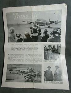 Nov 1947 'Trans-Air' Travelogue Vol. 1 No. 4 Air News 1st Constellation Arrives.