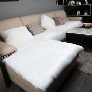 Winter Plush Sectional Sofa Cover Fluffy Faux Fur Cover Couch Cover Sofa Towel
