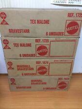 lot 4 X EMPTY SHIPPING BOX BRAVESTARR MR MARSHALL TEX MALONE MATTEL  SPANISH