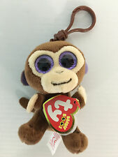 "TY Beanie Babies Boo's Coconut Monkey Key Clip 3"" Stuffed Collectible Plush"