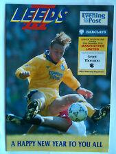 MINT 1991/92 Leeds United v Manchester United 1st Division