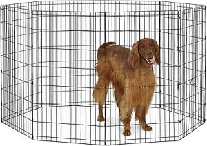 40 inch Tall Dog Playpen ,  Panel Folding Metal Puppy Exercise Pet NEW