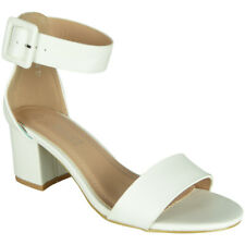 7fd03f01dbfa Womens Ladies Peeptoe Sandals Party Wedding Bridesmaids Bride Buckle Shoes  Size