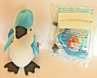Ty Retired plush  Blue Jay beanie baby Rocket and McDonalds mini beanie unopened