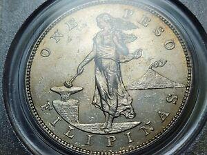 1903s Peso,U.S.-Philippines,AU58 Slider Grade,Toned Rev.,PCGS Certified,KM# 168