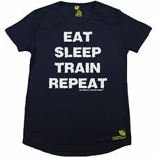 SWPS Comer Dormir tren repetir Dry Fit Deportes Camiseta Cuello Redondo