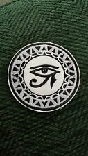 ROUND EGYPTIAN EYE of RA HORUS  EMBROIDERED APPLIQUÉ PATCH SEW or IRON ON