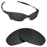 Hawkry SaltWater Proof Stealth Black Replacement Lenses for-Oakley Juliet