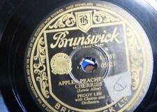 78rpm PEGGY LEE apples peaches & cherries / the night holds no fear