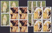 Guyana Pilze Mi Nr. 3287 - 3290 4er Blocks, rund gest., Mushrooms, used