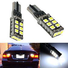 2xBrigh White 15SMD T10 LED Car Canbus ERROR FREE Backup Reverse Light Bulbs