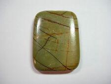 Red Creek Jasper Rectangle Gemstone Pendant Focal Bead 40mm